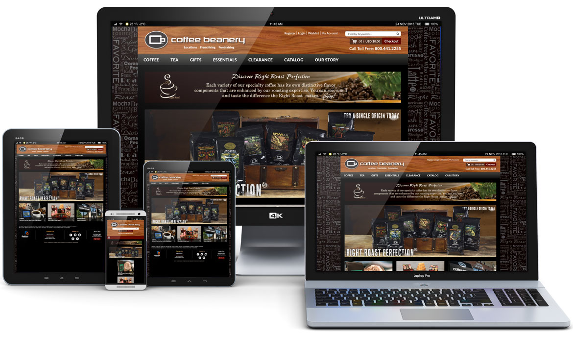 Coffee Beanery responsive website